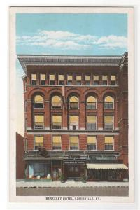 Berkeley Hotel Louisville Kentucky 1920c postcard