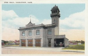 SASKATOON, Saskatchewan, Canada, 1900-10s; Fire Hall