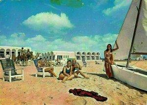Tunisia Hotel Beau Rivage Hammamet Tunisie Beach Postcard