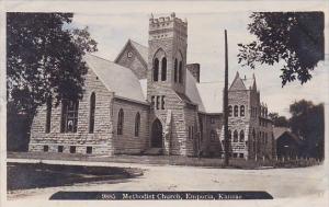 Methodist Church Emporia Kansas Real Photo