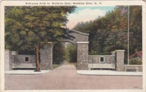 New York Watkins Glen Entrance Arch