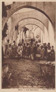 Beja Children Begging On Street Rue Bab Djedid Antique Portugal Postcard
