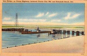Delaware Rehoboth Beach Inlet Bridge On Ocean Highway Between Rehoboth Beach ...