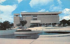 Lakeland Florida~Florida Southern College~Roux Library~1960s Postcard