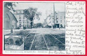 12772 Old Grade Crossing & Railroad Station, Springfield, Massachusetts 1905