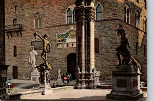 Italy Firenze Citta' D'Incanto Detail Of The Lodge Of La Signoria