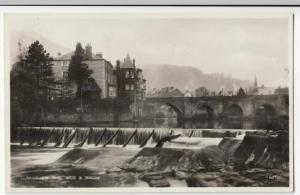 Denbighshire; Llangollen, Weir & Bridge 60700 RP PPC By Griffith, Unused