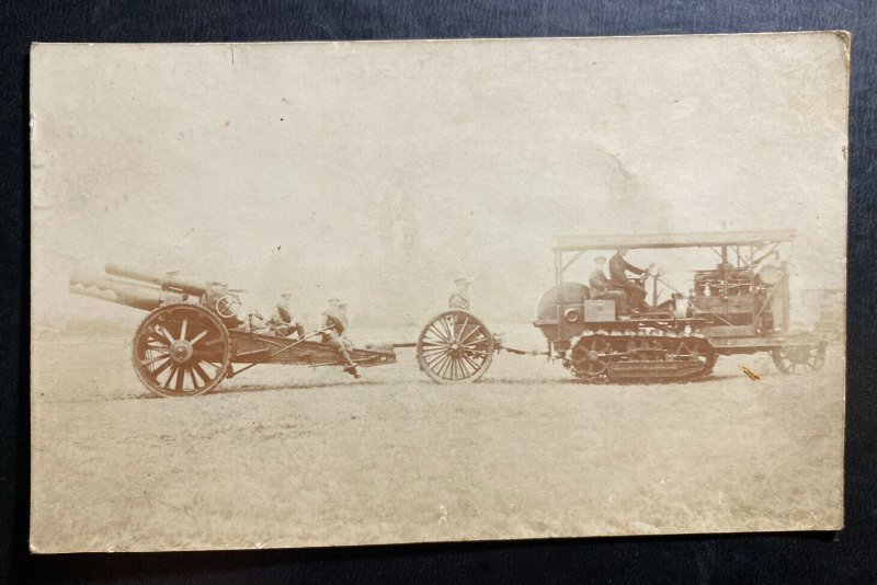 Mint USA Real Picture Postcard RPPC The Gun  Transportation WW1 US Army
