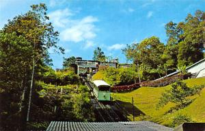 Malaysia Old Vintage Antique Post Card Top Station, Penang Hill Railway Unused