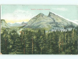 Divided-back NATURE SCENE Banff Alberta AB AD7823