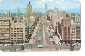 Postal 034219 : Av. Juarez Mexico desde el Monumento de la Revolucion