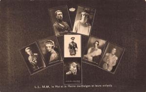 Belgian royal family Belgium royalty king queen & children postcard