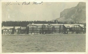 Glacier NP Montana Hotel 1920s RPPC Photo Postcard 20-4760