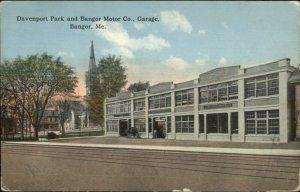 Bangor ME Motor Co Garage c1910 Postcard
