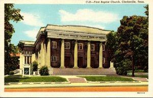 Tennessee Clarksville First Baptist Church Curteich