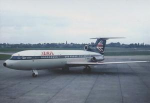 BEA Trident G-AVYE Plane at Birmingham Airport Limited Edition 300 Postcard