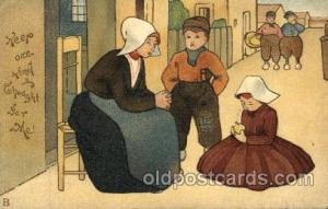 Dutch Children Old Vintage Antique Postcard Post Card