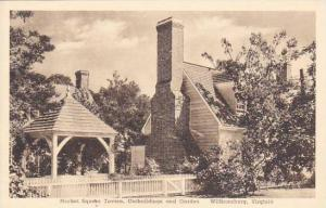 Virginia Williamsburg Market Square Tavern Outbuildings And Garden Albertype