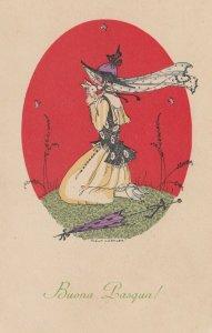 KOEHLER , Mela: Woman hugging a rabbit , 00-10s