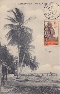 GABON , PU-1911 : Libreville , Sur la Plage