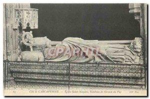Postcard Old Cite Carcassonne Eglise Saint Nazaire