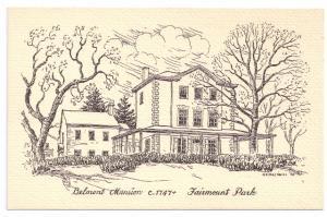 Belmont Mansion Philadelphia H.T. MacNeill 1950 Postcard