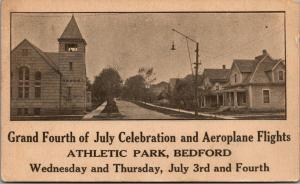 Bedford MA? OH? IA? PA? ???~Homes~Athletic Park July 4th Aeroplane Flights~1920s