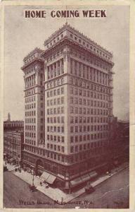 Wisconsin Milwaukee Home Coming Week Wells Building 1909