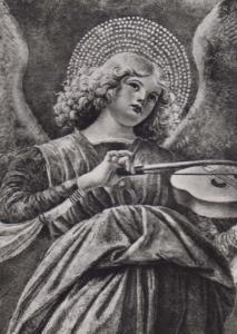 Angel Melozzo Da Forli Italian Gallery Vatican City Real Photo Postcard