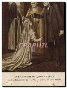 Old Postcard The Blessed Therese De L & # 39Enfant Jesus Receives The Blessin...