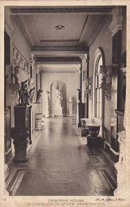 Osborne House, A Corridor In State Apartments, Isle Of Wight, England, UK, 19...