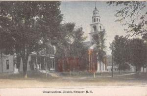Newport New Hampshire Congregational Church Antique Postcard K103929