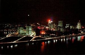 Pennsylvania Pittsburgh Night View From Mt Washington