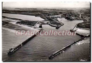 Modern Postcard Calais P C entry Aerial view of Port