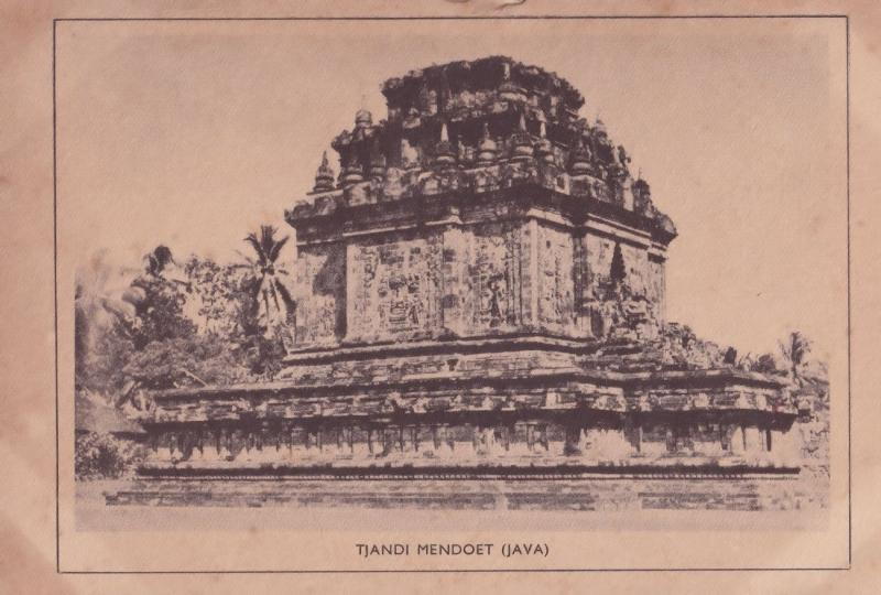 Indonesia Java Tjandi Mendoet Old Postcard