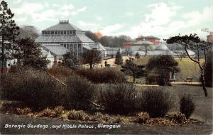 Scotland, UK Old Vintage Antique Post Card Botanic Gardens & Kibble Palace Gl...