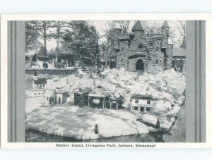 Damaged-Back 1940's MONKEY ISLAND AT LIVINGSTON PARK Jackson MS c8428