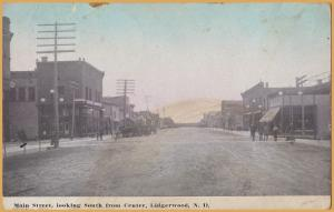 Lidgerwood, North Dakota-Main Street, Looking south from Center - 1912