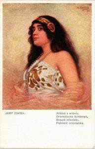 PC CPA ARABIAN TYPES AND SCENES, BEAUTÉ ORIENTALE, Vintage Postcard (b17428)
