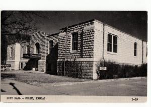 Old COLBY Kansas Kans Ks Real Photo RPPC Postcard CITY HALL K245