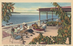 Charlotte Amalie , Virgin Islands , 1930-40s ; Garden Terrace , Smith's Fancy