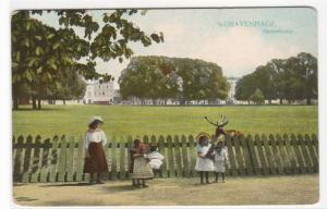 Young Girls Hertenkamp Gravenhage The Hague Netherlands 1910c postcard