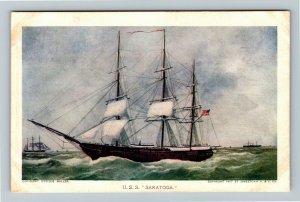 Jamestown Exposition 1907 No. 73 U.S.S. Saratoga- Official Postcard