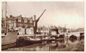 UK River Stour and Barbican Sandwich RPPC 06.87