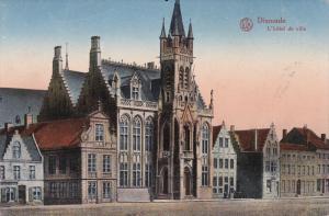 DIXMUDE, West Flanders, Belgium, 1900-1910's; L'Hotel De Ville