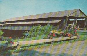 Vermont Shelburne Covered Bridge At Entrance To Shelburne Museum