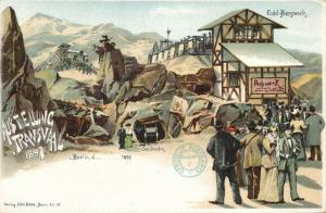 south africa, TRANSVAAL Ausstellung, Gold Mining, Cable Car (1897) Expo