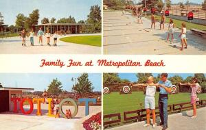 Metropolitan Beach Michigan Recr Facility Multiview Vintage Postcard K90645