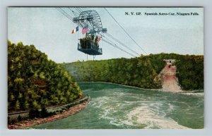 Niagara Falls NY, Spanish Aerocar Over Whirlpool, Vintage New York Postcard
