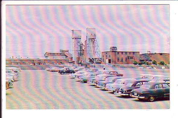 Frood Mine, International Nickel, Sudbury, Ontario, Parking Lot Cars